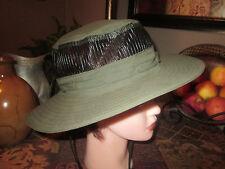 Mens Ladies Columbian Bora Bora Booney Outback Hat Sun Green Safari w Mesh L XL
