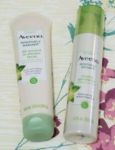 Aveeno Radiant 60 Second In-Shower Facial Cleanser & Micellar Gel Cleanser