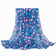 Candy Cane  , Snow flakes Christmas Scarf In Blue Scarves Shawl