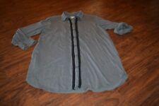 B30- DKNY Button Down Tunic Size Medium