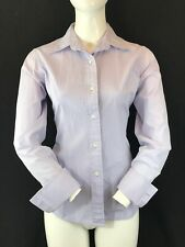 T.M. LEWIN Women Lilac Cotton Long SleeveCuff Link Shirt Blouse UK10