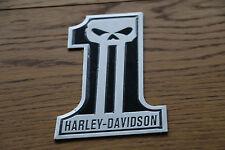 "SCRITTA STEMMA LOGO ADESIVO SKULL ""HARLEY DAVIDSON"" EFFETTO RILIEVO LUCIDO M2005"