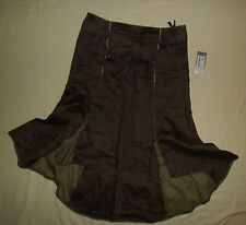 WATCHER / WOMENS (Ladies) Ramie long Skirt. Color: clay (olive). BNWT! Size: S