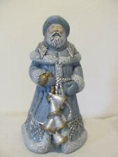 One-of-a-Kind, Hand-Painted Ukranian Ceramic Santa Claus(Crafted in the USA)