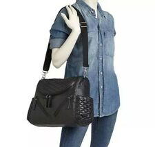 Rebecca Minkoff Jude Black Quilted Diaper Bag With Changing Pad