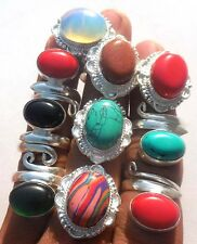 NEW DESIGN JEWELS WHOLESALE LOT 10PC! 925 STERLING SILVER OVERLAY RING!