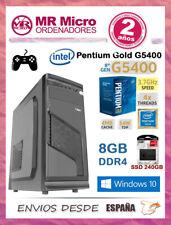 Ordenador Intel Gold 5400G/ 8GB DDR4/ SSD 240GB/ Windows 10 Pro