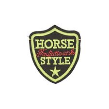 Horse Style Badge (Iron on) Embroidery Applique Patch Sew Iron Badge
