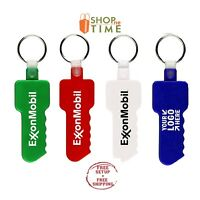 School Name Custom House Shape Key tag Printed With Your Logo Text 100 QTY