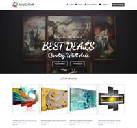 Wall Art Website For Sale - Earn £395.00 A SALE. Free Domain| Web Hosting