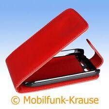 Flip Case Etui Handytasche Tasche Hülle f. HTC Desire S (Rot)
