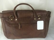 Genuine Buff Vintage Leather Durable Quality Bag Color Brown 40x30x10cmNew Large