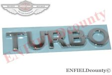 UNIVERSAL TURBO 3D PLASTIC CHROME LOGO BADGE STICKER DECAL CAR AUTO SPARES2U