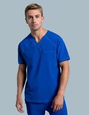 Jaanuu Scrub set blue top 5280 v neck raglan men pant straight leg drawstring Xs