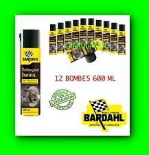 Bardahl Lot de 12 Bombes 600 ML Nettoyant Degraissant Frein Auto Moto