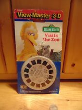 View-Master Sesame Street Visits the Zoo 3-D 3 Reels 21 Pictures NOS 1990
