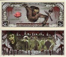 Zombie Apocalypse Million Dollar Novelty Money
