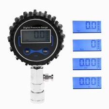 Digital Gas Engine Cylinder Compression Tester Tool Car Pressure Gauge Adapter