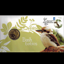 2013 $1 Bush Babies II Kookaburra Coin and Stamp Cover PNC