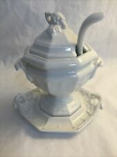 Red Cliff Grape Small Tureen with Lid, Ladle, Underplate Sauce Gravy Jam Jelly