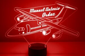 Personalized Airplane LED Night Light Lamp - Air Plane Color Change Remote