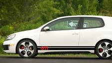 VW GTI ADESIVI LATERALI PORTA declas PIN strisce adesivi GOLF R POLO SCIROCCO COPPIA