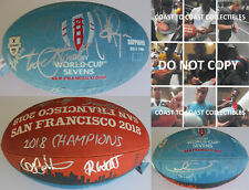 2018 New Zealand All Blacks Sevens,team,signed,autographed,WC Rugby ball,Proof.