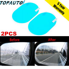 2x Oval Car Auto Anti Fog Rainproof Rearview Mirror Protective Film Accessory JO