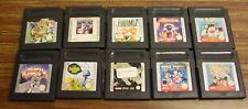 jeu Nintendo Game Boy  lot 10 jeux loose tous tester ok  game watch gallery 3
