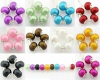 50pcs Pearl Color Murano Lampwork Glass Beads For Charm Bracelet G4