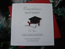 Personalised Handmade Graduation Card