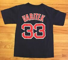 Vintage Boys Size Medium Majestic Boston RedSox Short Sleeve Shirt Varitek #33