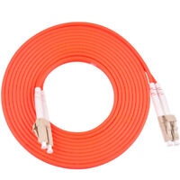 5m LC UPC to LC UPC Duplex 50/125 OM2 Multimode Fiber Optic Patch Cord Cable