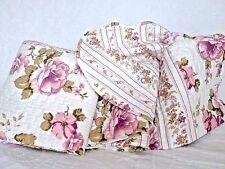 Tagesdecke 220x240 Bettüberwurf Cottage weiß rosa pink Rosenmuster Landhausstil