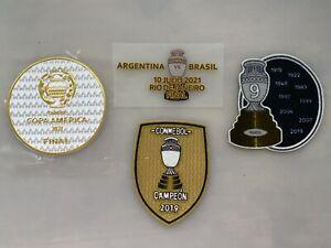 Copa America 2021 final game jersey patch set - Brazil