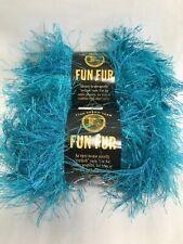 Lion Brands Fun Fur Prints Eyelash Yarn -Turquoise- New