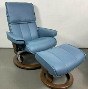 "Ekornes Stressless Leather Adjustable Recliner Chair Medium ""Admiral"" *NEW*"