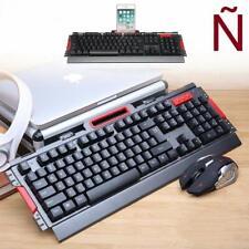 Teclado gaming y Raton 800-2400 DPI inalambrico 2.4GHz En español letra Ñ HK50
