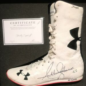 ANTHONY JOSHUA Worn And Signed Official Training Boot