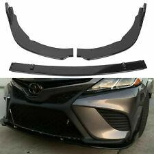 Front Bumper Lip Body Kit Splitter For Toyota Camry 2018-2020 Se Xse Gloss Black (Fits: Toyota)