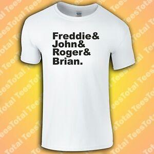 Queen T-Shirt Freddie, Roger, John, Brian (Music/Rock/Freddie Mercury)