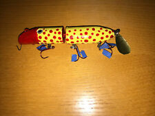 Jim Wicks Curtis Michigan Hand Carved Fish lure Decoy Signed Folk Art