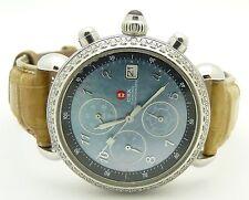 MICHELE STAINLESS STEEL CSX DIAMOND CHRONOGRAPH WATCH, MODEL 71-4000/5000