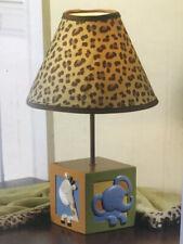 New NoJo Jungle Babies Zambia Lamp & Shade Elephant Giraffe