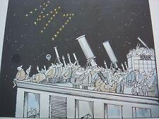 Walter Hanel, allemand, satirique caricature sur monétariste politique, crayon signé 1983