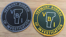 VBI - Vermont Bureau of Investigation - Set of TWO - Genuine *Kokopelli Patch*