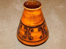 ILKRA WEST GERMAN ORANGE RETRO 1960's VASE 1031/20
