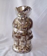 1800's English Silver Luster Toby Jug