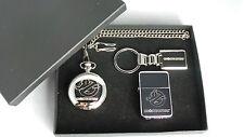 Ghostbusters Gift Set Slimer Silver Plated Pocket Watch Keyring & Petrol Lighter