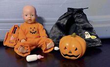 Rare Halloween Baby Born Mini World Doll Set Zapf Creation Pre-Owned Guc